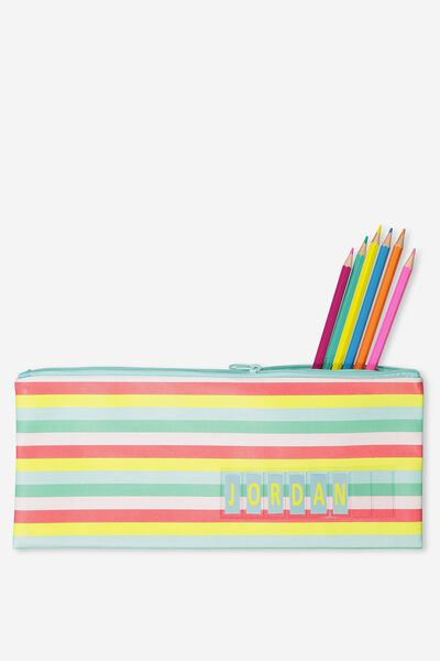 Pencil Case Name It, RAINBOW STRIPE