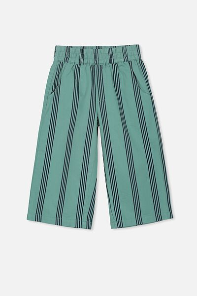 Isla Wide Leg Crop Pant, BERYL GREEN/PEACOAT STRIPE