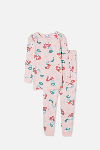 Lila Long Sleeve Pajama Set, LCN DIS RASIED BY MERMAIDS CRYSTAL PINK