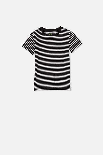 Core Short Sleeve Tee, BLACK & WHITE YDS