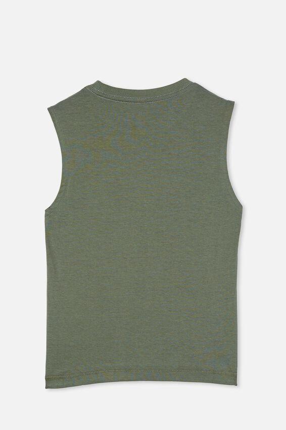 Otis Muscle Tank, SWAG GREEN/DINO