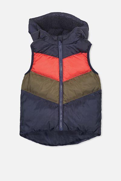 Will Puffer Vest, NAVY/SPLICE