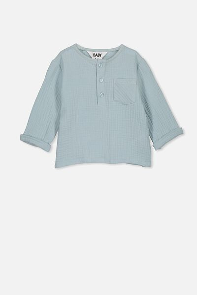 Tate Long Sleeve Shirt, ETHER
