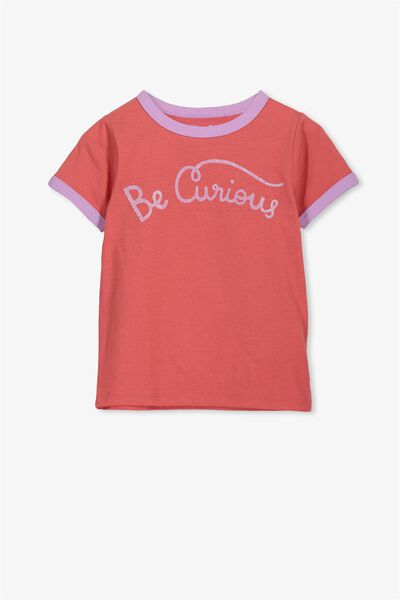 Penelope Short Sleeve Tee, ROSE OF SHARON BE CURIOUS/RINGER