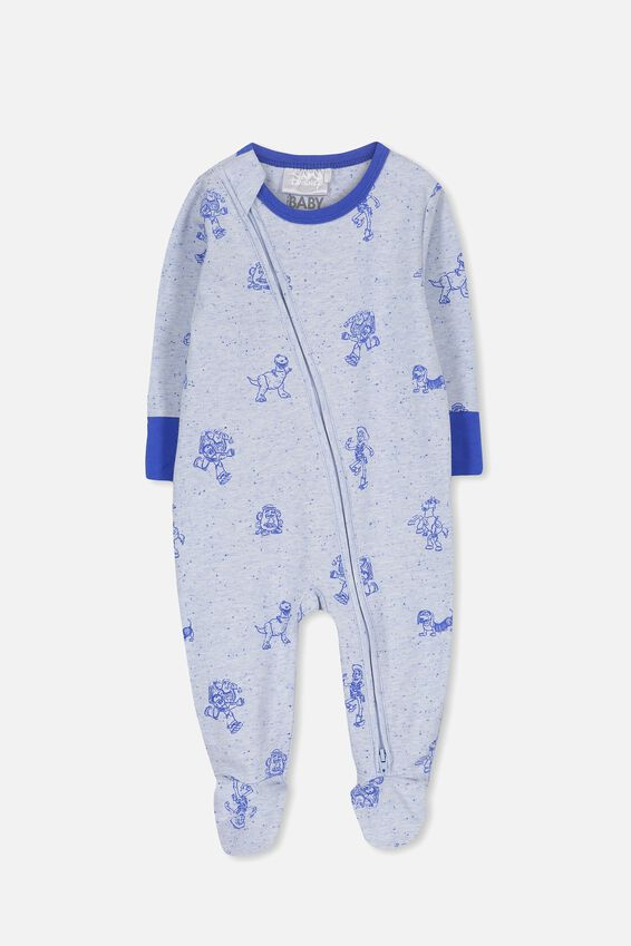 License Zip Through Romper, FUN BLUE MARLE/TOY STORY