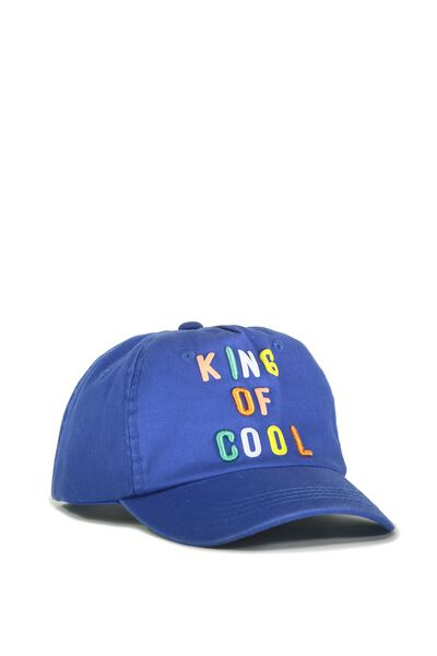 Baseball Cap, KING OF COOL/SCUBA BLUE