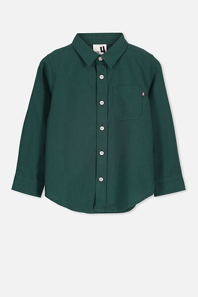 Prep Long Sleeve Shirt, DEEP TEAL
