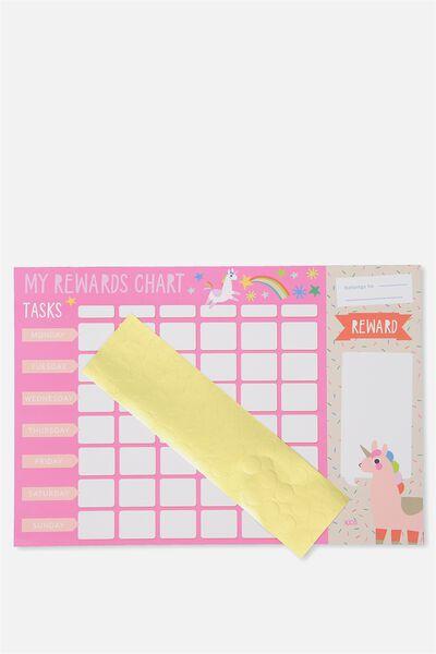 Rewards Chart, PINK LLAMACORN