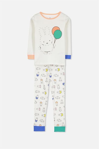 Alicia Long Sleeve Girls Pj Set, MIFFY DOT TO DOT