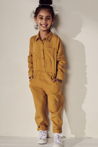 Gizelle Boiler Suit, HONEY GOLD