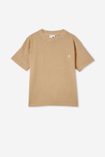 Scout Drop Shoulder Short Sleeve Tee, SEMOLINA / PINEAPPLE