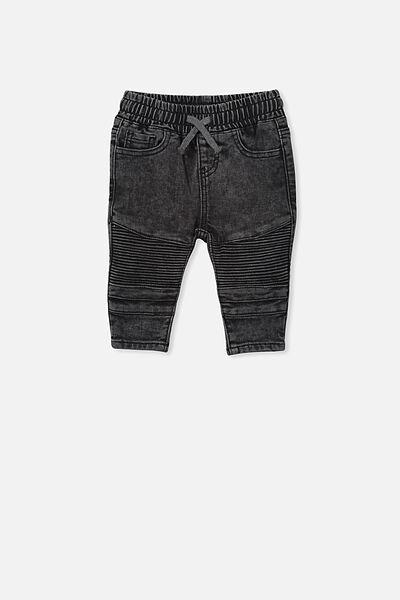 Carter Moto Jean, BLACK WASH