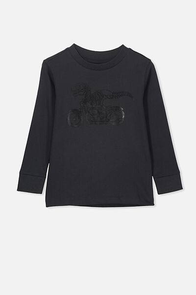 Skater Long Sleeve Tee, PHANTOM/DINO