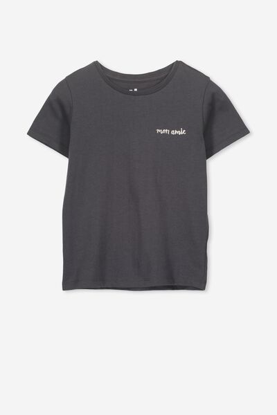 Penelope Short Sleeve Tee, GRAPHITE GREY/PUG/MAX