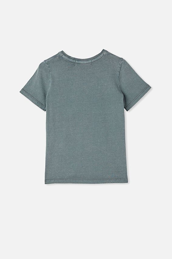 License Short Sleeve Tee, LCN PER RABBIT GREY WASH/ACDC FLAMES