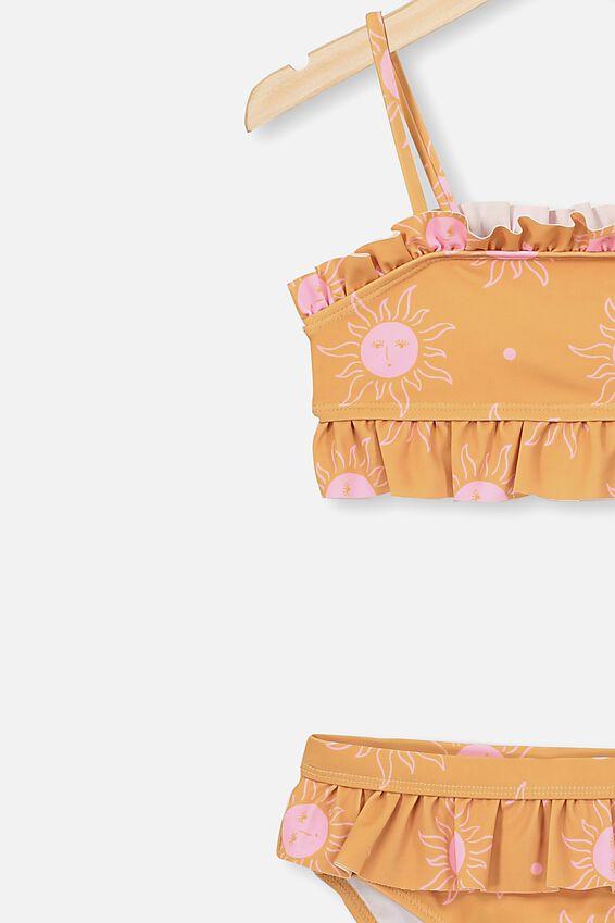 Riley Ruffle Bikini, RUSSET BCI COTTON