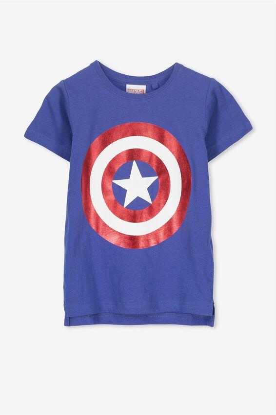 Captain America Short Sleeve Tee, INK BLUE/CAPTAIN AMERICA SHIELD