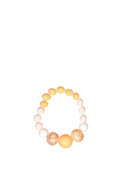 Mixed Beaded Bracelet, ROSE GOLD FOIL