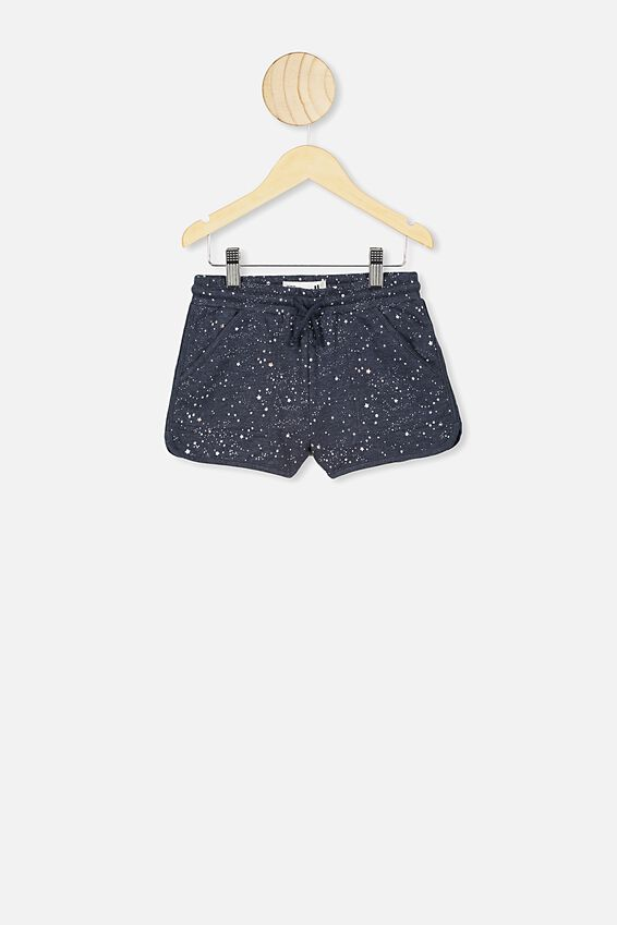 Nina Knit Short, INDIAN INK MARLE SCATTERED STARS
