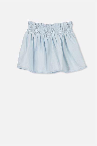 Natalie Skirt, LT CHAMBRAY