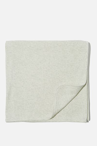 Newborn Blanket, SOFT GREY MARLE