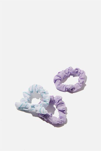 Mini Scrunchie, VINTAGE LILAC DOBBY