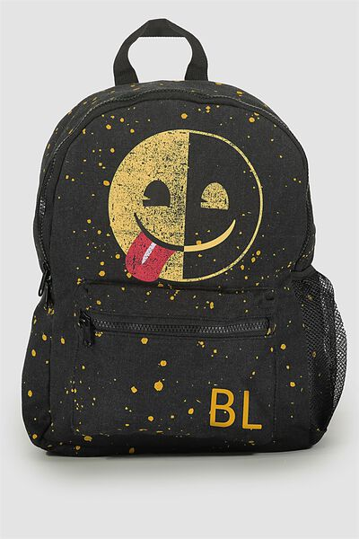 Emoji Personalised Backpack, EMOJI PAINT SPLATTER
