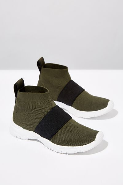 Knit Trainer, KHAKI