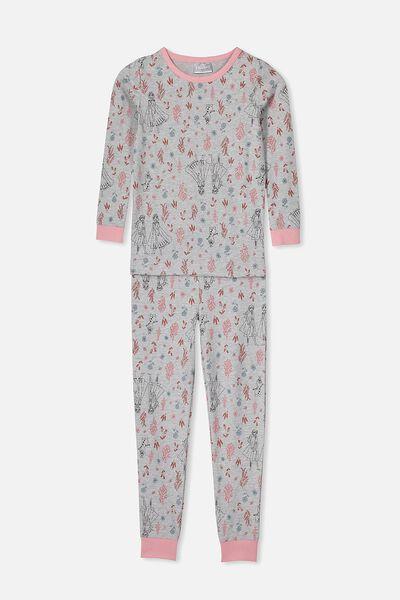 Lila Long Sleeve Pyjama Set, LCN DIS FROZEN/BOTANICAL