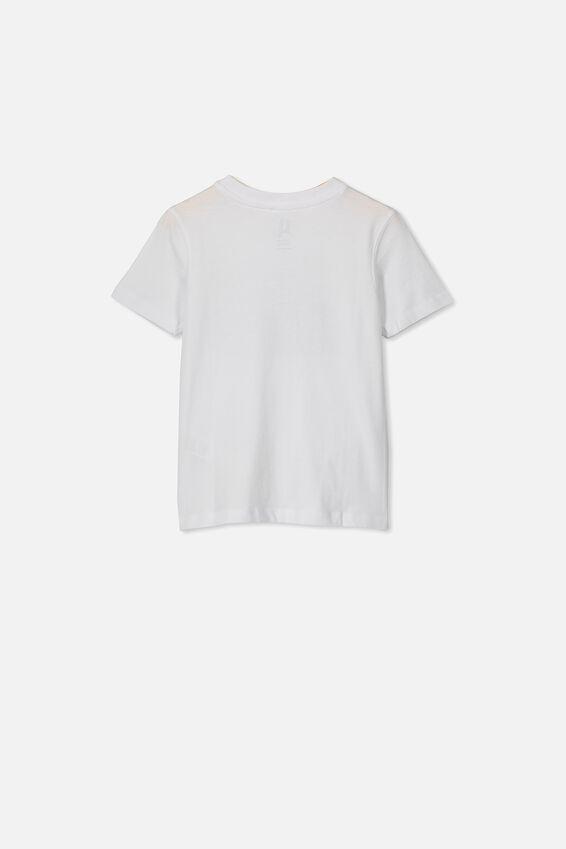 Max Skater Short Sleeve Tee, WHITE MONSTER PRINT