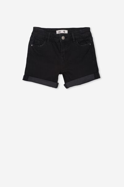 Camilla Denim Short, WASHED BLACK 2