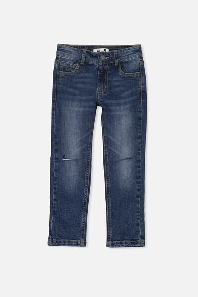 Ollie Slim Leg Jean, ADVENTURE BLUE WASH