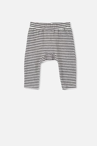Charlie Trackpant, KELLY STRIPE CHARCOAL MARLE/WHITE
