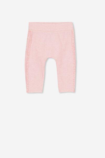 Trixie Ruffle Legging, BABY PINK MARLE