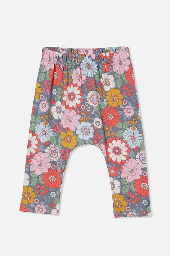 The Legging, STEEL/CALI PINK RETRO FLORAL