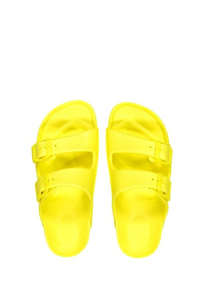 Twin Strap Slide, CITRUS YELLOW