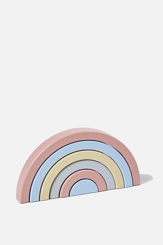 Wooden Stackable Rainbow, RAINBOW