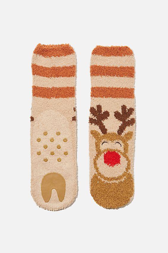Slipper Sock, REINDEER