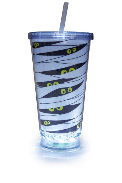 Light Up Cup, WHITE SPOOKY BANDAGES