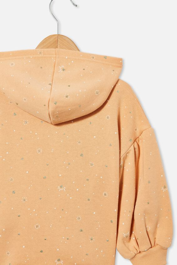 Tilly Puff Sleeve Hoodie, PEACHY/ NAIVE HEART