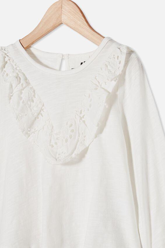 Juliette Long Sleeve Top, VANILLA