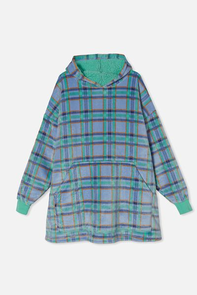 Snugget Adults Oversized Hoodie, CHOCOLATE THEIF/MINT BREEZE