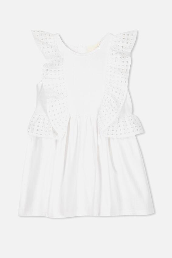 Sheridan Sleeveless Dress, WHITE
