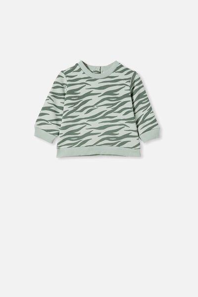 Billie Sweater, STONE GREEN/MARTY ZEBRA