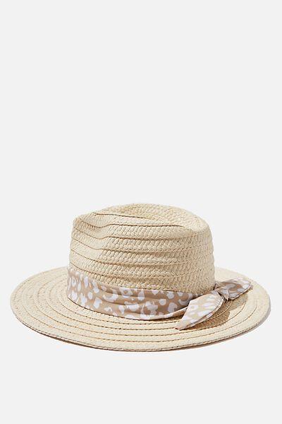 Floppy Hat, NATURAL SCARF