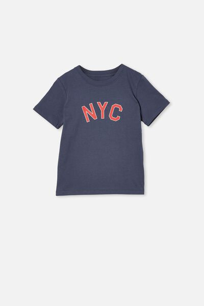 Max Skater Short Sleeve Tee, VINTAGE NAVY / NYC