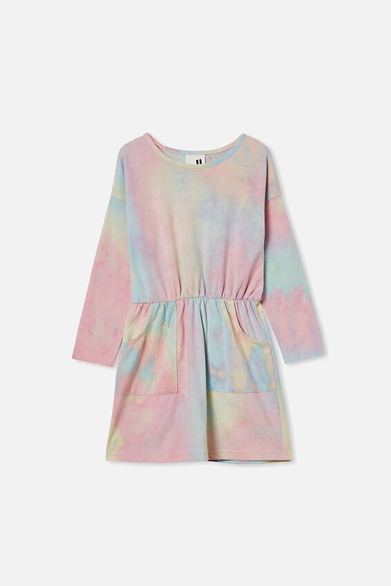 Sigrid Long Sleeve Dress, RAINBOW TIE DYE