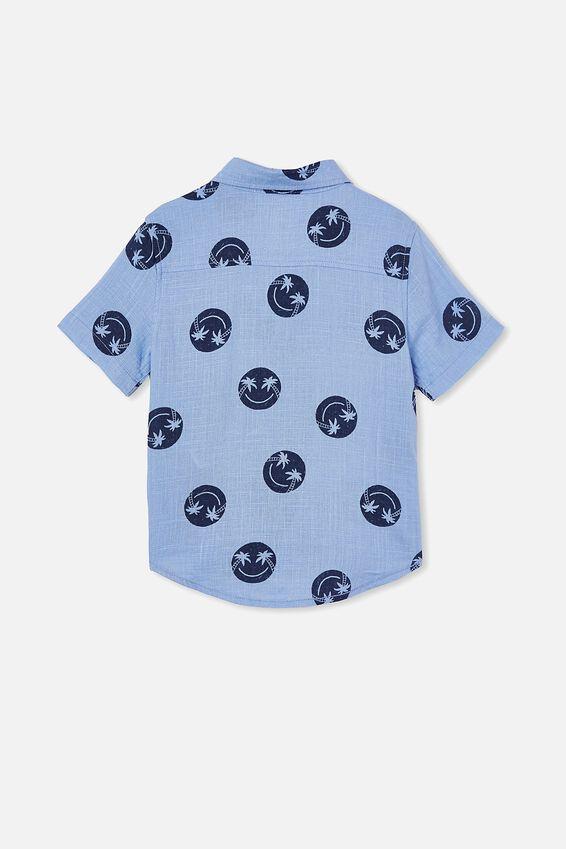 Resort Short Sleeve Shirt, SMILE/DUSK BLUE