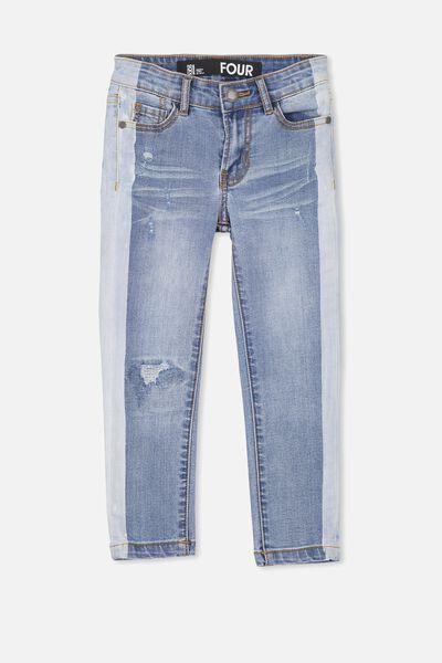 Jagger Slim Leg Jean, ROBBO BLUE/STRIPE