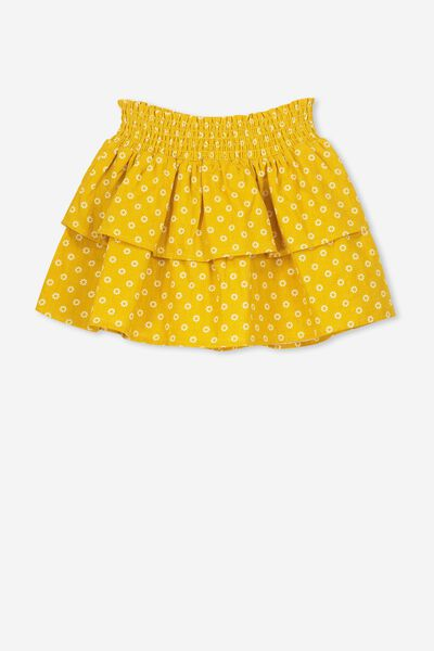 Gracie Skirt, GOLDEN ROD 60S DITSY